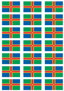 Lincolnshire Flag Stickers - 21 per sheet